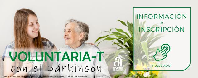 Imagen del programa de voluntariado de la Asociación Parkinson Elche